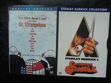 A Clockwork Orange & Dr Strangelove DVD Stanley Kubrick Region 1 Peter Sellers