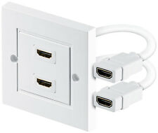 HighSpeed HDMI 2 Fach Anschlussdose Buchse Port Unterputz Dose wei�Ÿ Wanddose
