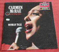 CARMEN MCCRAE LP ORIG FR 60'S VOGUE WOMAN TALK LIVE