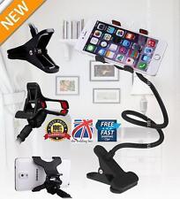Flexible Long Arms Lazy Stand Clip Holder For Mobile Phone Desktop Bed Car Black