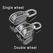 Singledouble Pulley Swivel Eye Wheel Block Snatch Rope Pulley Lift M15 M100