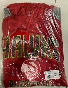 Atlanta Hawks Mens Red NBA Majestic Pullover Hoodie Big & Tall