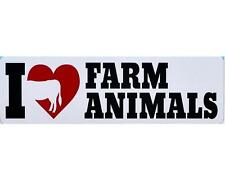 I heart / Love Farm Animals, funny joke car bumper magnet sticker, adult pranks