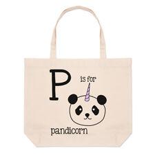 lettere P è per PANDICORN GRANDE BORSA CON MANICO da Spiaggia - PANDA Unicorn