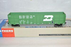HO scale Walthers RTR Burlington Northern RR 61' wood chip gondola car train