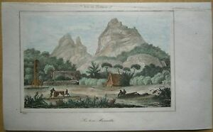 1848 print TROIS MAMELLES MOUNTAIN, MAURITIUS, INDIAN OCEAN (#8)