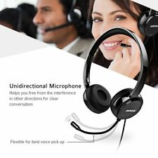 Mpow 071 Computer Headset Office Call Center USB/3.5mm Wired Headphone with Mic