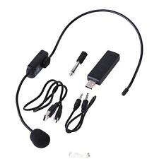 UHF Stage Wireless Headset Microphone Radio FM Mic with USB Transmitter Receiver