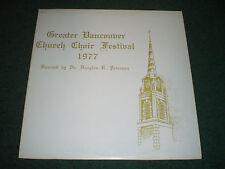 Greater Vancouver Church Choir Festival 1977 Douglas Peterson~Christian Xian