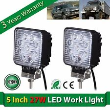 2x 27W 5'' Cree LED Flood Work Light lamp truck SUV OFF-Road ATV Boat UTE VS 48W
