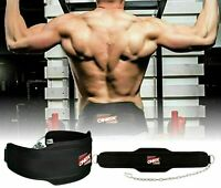 Back Support Dip/Dips/Ups Dipping & Pull Up Weight Belt With Chain Gym Fitness