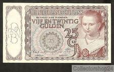 Nederland - Netherlands 25 Gulden Prinsesje 1943 I Aunc  - 7AM066773