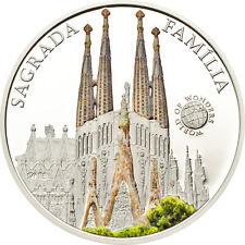 Palau 2013 Spain Sagrada Familia 5 Dollars Colour Silver Coin,Proof