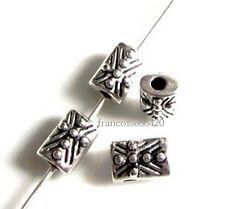 10 Intercalaires spacer Rectangle 8x5.5x4.5mm Perles apprêts création bijou A271