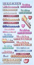 Sticker CREApop Geburtstag Herzlichen Glückwunsch Scrapbooking Karte basteln
