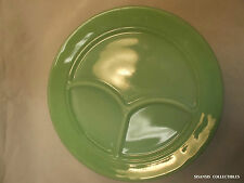 Fire-King Jadeite Restaurant Ware G292 Compartment Plate 3 Section 9 3/4""