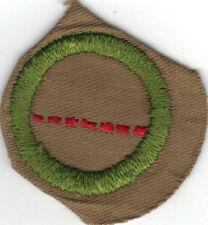 BOY SCOUT SALESMANSHIP SAND FINE TWILL MERIT BADGE (TYPE D) 1942-1946