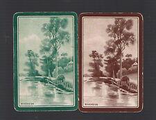 "Playing Swap Cards 2 Vint Aust Nmd "" Riverside"" Great Water Scene W260"