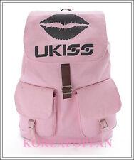 U-KISS UKISS KISS ME PINK CANVAS SCHOOL BAG BACKPACK NEW