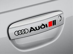 AUDI A3 A4 A6 A8 RS3 RS4 Q5 S- Line Door Handle Decal sticker emblem logo BLK