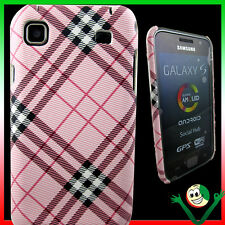 Custodia back cover PLAID RE per Samsung Galaxy S i9000 i9001 Plus rosa sottile