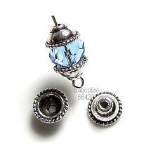 10 Caps calottes coupelles argent 10x10x5mm Perles apprêts création  bijoux A214
