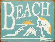 "Vintage Retro Reproduction Beach Ocean Vacation Metal Sign 9"" x 12"" NEW"