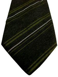 PAL ZILERI Mens Tie Dark Brown - Green & White Stripes