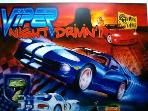 Sega Viper Night Drivin Pinball Translite Art Sheet 1998 Original NOS Slash GNR