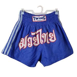 Twins Special Mens Royal Blue Red White Nylon Muay Thai มวยไทย Boxing Shorts 5L