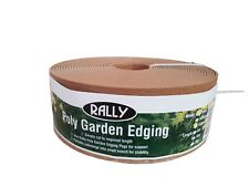 Landscape Garden Edging Terracotta 75mm x 10M Plastic