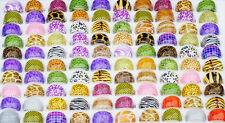 50X FREE Wholesale bulk mixed Colorful Leopard Fashion women's Sexy resin rings