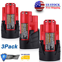 3x For Milwaukee M12 12-Volt 48-11-2420 LITHIUM Compact Battery Packs 48-11-2402