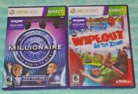 Wipeout & Who Wants to be Millionaire XBOX 360 2 Game Lot Requires Kinect Sensor