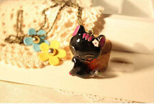 Cat Rhinestone Alloy Costume Necklaces & Pendants