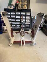 Star Wars Hasbro 2008 Clone Wars V-19 Torrent Starfighter + Oddball Pilot