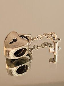 Genuine Pandora Charm - Lock & Key Dangle Charm RETIRED  790971  #8/9