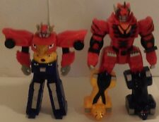 "7"" 2007 Jackal and 6""2008 RPM DX HIGH OCTANE Megazord PowerRangers Bootlegs"