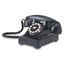 CROSLEY MODEL 302 RETRO 1940's STYLE DESKTOP LANDLINE TELEPHONE, BLACK, NIB