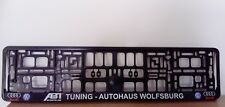 2 x VW AUDI ABT TUNING AUTOHAUS WOLFSBURGNumber Plate Surrounds Holder Frame