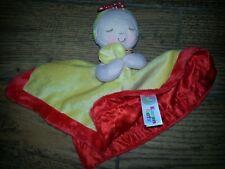 Karen Katz girl baby doll Lovey Red satin Yellow Security Blanket Animal Adventu