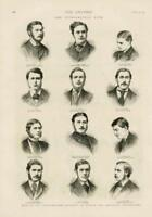 1873 - Antique Print OXFORD CAMBRIDGE Universities Intellectual Race (150)