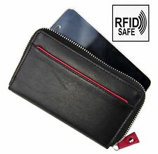 Prime Hide Celino RFID Blocking Black Leather Smart Phone Purse iPhone Purse New