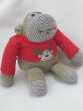 "HEY MONKEY PG TIPS TEA  7"" TV CHIMP SOFT TOY BEANIE JOHNNY VEGAS APE RED XMAS"