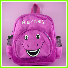 CUTE Barney The Dinosaur Purple Face Soft Plush Toy Backpack Bag FREE SHIP