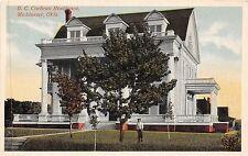 A8/ McAlester Oklahoma Ok Postcard c1910 G.C. Cochran Residence Home Boy