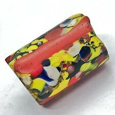 1400-1800's Authentic Venetian Glass Mosiac Trade Bead Colored Millefiori Old A