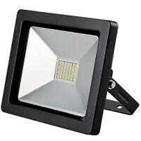 Emco LED Negro Exterior 20W Jardín IP65 Luz Blanco Lámpara de Proyector Foco Luz