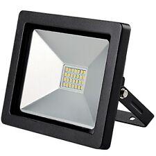 Emco Led Nero Al di fuori 20W Giardino IP65 Luce Bianca Proiettore Lampada