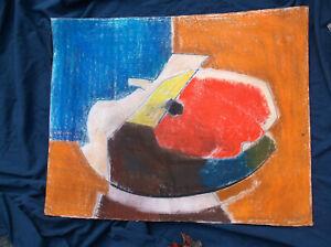 Abstract,Surrealist Pastel7charcoas,Benoit Gilsoul, Watermelon?/Paper,Belgian